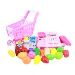 Set joaca supermarket - Casa de marcat cu cos de cumparaturi si accesorii