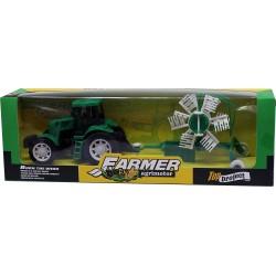 Tractor cu grebla